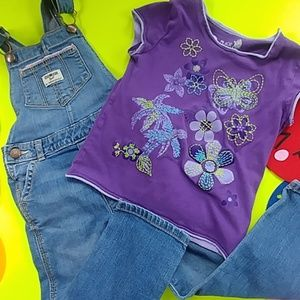 3 pieces. Jean mix and match, bottoms & tops